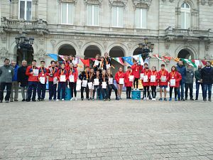 Or infantil i bronze cadet al Campionat d'Espanya Escolar de seleccions autonòmiques a La Corunya.