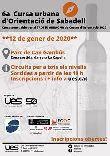 1a competició del 2020: Cursa urbana orientació a Sabadell
